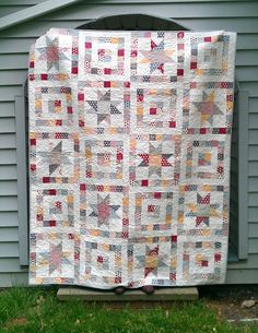 I love this pattern, the colors and the pattern! I have the fabric for another pattern but I may need to do this one instead:)