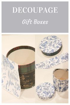Get super creativewith recycle boxes and Learn how to make your own decoupaged gift boxes with Chinoiserie paper.They make great gifts. Diy Crafts To Do, Decor Crafts, Diy Furniture Projects, Diy Projects, Faith Crafts, Make Your Own, Make It Yourself, Vintage Jars, Decoupage Box