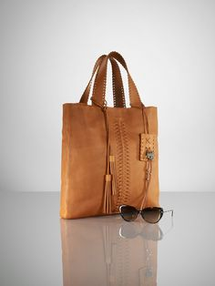 Ralph Lauren laced leather tote <3
