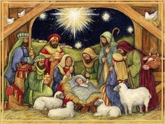 Nativity, Adore Him Christmas Cards, Box of 18