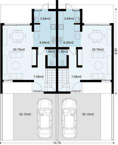 Model House Plan, New House Plans, Small House Plans, Townhouse Designs, Duplex House Design, Duplex Apartment, Apartment Plans, Duplex Floor Plans, House Floor Plans