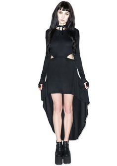 Lip Service Ghosted Assymmetrical Dress