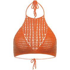 Yoins Deep Orange Spiritual Hippie Crochet Tie Back Bralet Top ($8.20) ❤ liked on Polyvore featuring tops, orange, summer tops, tie back top, bralette tops, crochet top and bralet tops