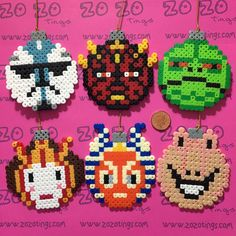 Star Wars Prequel Christmas Pixel Baubles via Zo Zo Tings. Click on the image to see more!