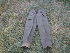 "Vintage Schilling OHG Reichartshausen German Wool Military Cargo Pants 32 x 29""…"