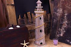 Φάρος ξύλινος μεσαίος WI0686.Διαστάσεις: 59x15x15cm