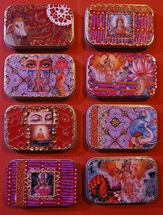 Indian tins - (make from Altoid tins and  tissue paper w/Indian pictures on top..... & beads!)