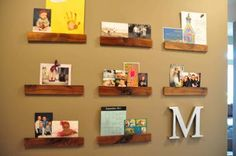 AWESOME idea for frameless photo display that can be changed out easily and often!
