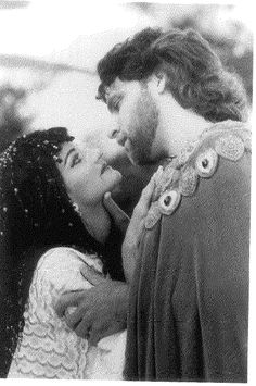Marco Barricelli as Antony and Lura Dolas as Cleopatra in ANTONY AND CLEOPATRA, 1991. Photo credit: David Allen #calshakes40th