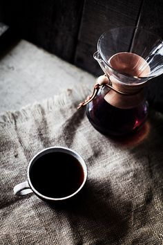 Chemex coffee... I really should just break down and buy one of these... :)