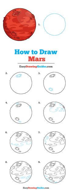 How to Draw Mars - Really Easy Drawing Tutorial