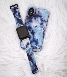 Feeling blue with the Geode Case & Apple Watch band from Elemental Cases. Available for iPhone X, iPhone 8 Plus / 7 Plus & iPhone 8 / 7 & Apple Watch band for original / series 1 / series 2 / series 3 in both 38mm and 42mm sizes.