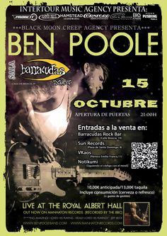 Concierto de Ben Poole en Madrid