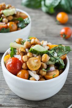 """Roasted Chickpea """"Panzanella"""" Salad - Dishing Up the Dirt"""