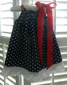Patriotic Dress Toddler Girl July 4th. I might be able to pull this off!