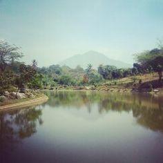 Mount Galunggung, Sumedang, West Java, Indonesia (view from Padjadjaran University, Jatinangor)