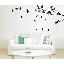 Birds with Branch Wall Art Decal
