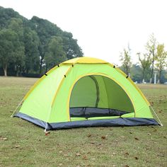 45.00$  Buy here - http://ali0ej.worldwells.pw/go.php?t=32753687176 - 3-4people double layers camping shelter for hiking automatic tent Windproof Waterproof Anti UV  Ultralight  Camping tourist Tent 45.00$