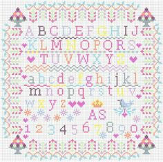 Cross Stitch Love, Cross Stitch Samplers, Counted Cross Stitch Kits, Cross Stitch Embroidery, Cross Stitch Alphabet Patterns, Cross Stitch Designs, Baby Decor, Creations, Tattoo