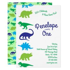 Cute Dinosaur Kids 1st Birthday Dino Party Invitation #Birthday #BirthdayInvitations #BirthdayInvites Cute Dinosaur, Dinosaur Party, Dinosaur First Birthday, Dinosaur Birthday Invitations, Sticker Shop, Dinosaurs, Theme Ideas, Party Ideas, Power Points