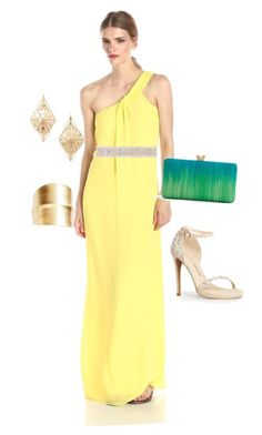 """""""Lovely Canary"""" by ethereal-cassiopeia on Polyvore featuring CeCe by Cynthia Steffe, Cocobelle, Forever 21, Panacea and Chinese Laundry"""