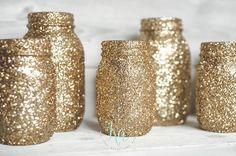 Lindos potes decorados com glitter