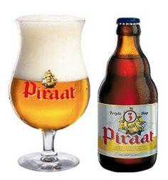 Cerveja Piraat Triple Hop, estilo Belgian IPA, produzida por Brouwerij Van Steenberge, Bélgica. 10.5% ABV de álcool.