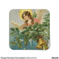 Vintage Christmas Town Angel