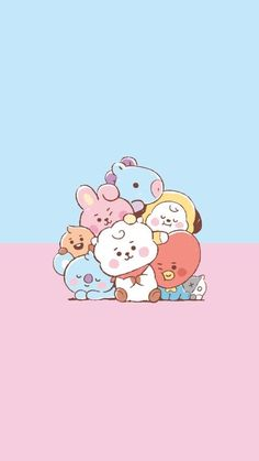 Bts Backgrounds, Bts Drawings, Hello Kitty, Kpop, Cute, Wallpapers, Fictional Characters, Kawaii, Wallpaper