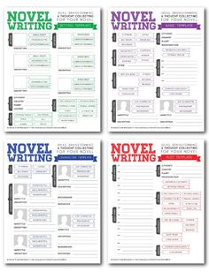 Novel Writing Brainstorming Templates