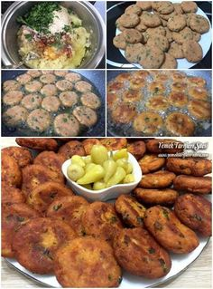 Patates Köftesi Tarifi – Vegan yemek tarifleri – Las recetas más prácticas y fáciles Turkish Recipes, Italian Recipes, Ethnic Recipes, Iftar, Potato Patties, Empanadas Recipe, Patties Recipe, Fish And Meat, Fresh Fruits And Vegetables