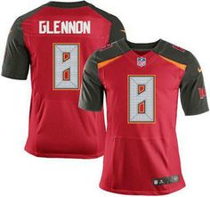 Tampa Bay Buccaneers Jersey 8 Mike Glennon Red Team Color NFL Nike Elite Jerseys
