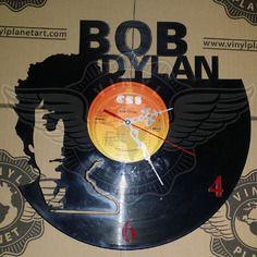 24,50 € Horloge vinyle décoration Bob Dylan Vinyl Record Art, Vinyl Records, Bob Dylan, Boutique, Etsy, Vintage, Wall Clocks, Watches, Projects