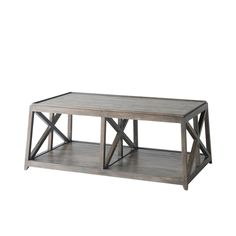 Modern Cocoa Finish Cocktail Table