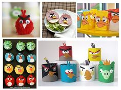 A collection of angry bird game and craft ideas - perfect for a kids birthday party!