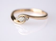 Picture of custom gold engagement ring - Custom engagement rings