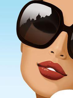 Illustration fille pop art girl with sun glasses Bd Pop Art, Jason Brooks, Fashion Sketches, Monaco, Art Girl, Fashion Art, Mirrored Sunglasses, Sunglasses Sale, Art Drawings