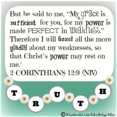 His grace is sufficient, 2 Corinthians 12:9, Made to Crave, Week 4