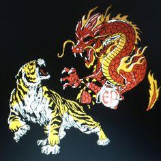 Kenpo dragon and tiger based art