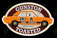 Racing Heritage Decal Stickers. #201A Team Gunston Cortina Perana                                 Price $7.50