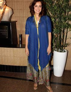 Dia Mirza at the premier show of Paritosh Painter's play 'Double Trouble'. #Bollywood #Fashion #Style #Beauty #Desi #Cute