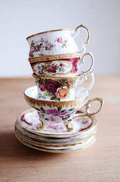 royal albert china | ROYAL ALBERT PINK ROSES ON PINK TEA CUP AND SAUCER Flared AVON Teacup