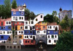 Hundertwasserhaus Wien - Friedensreich Hundertwasser