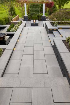 Backyard Patio Designs This backyard patio idea is inspired by our Blu Grande Smooth patio slab. Concrete Patios, Concrete Backyard, Concrete Patio Designs, Small Backyard Patio, Backyard Patio Designs, Backyard Landscaping, Patio Ideas, Large Concrete Pavers, Colored Concrete Patio