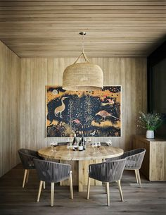 Pierre Yovanovitch designs the new interiors for Hélène Darroze at the Connaught Stone Tile Fireplace, Exterior Shades, Pierre Yovanovitch, Usa House, Wooded Landscaping, Garden Frame, Wood Siding, Dining Chairs, Dining Rooms