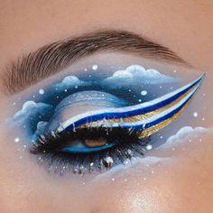Baddie Makeup, Sfx Makeup, Makeup Art, Crazy Eye Makeup, Creative Eye Makeup, Cool Makeup Looks, Cute Makeup, Makeup Inspo, Makeup Inspiration