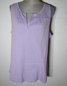 New Nautica Pajama Top Purple Lilac Sleepshirt Cotton Knit Sleeveless Tank XXL #Nautica #SleepshirtPajamaTop #Everyday