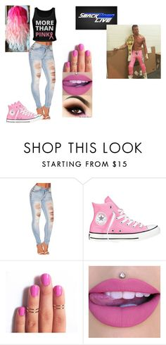 """Ringside for Dolph Ziggler VS. The Spirit Squad."" by jamiehemmings19 ❤ liked on Polyvore featuring Converse and WWE"