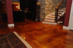 Revitalize your concrete surfaces with concrete stain!