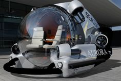 personal small and light private submarines Aura 3 person model.